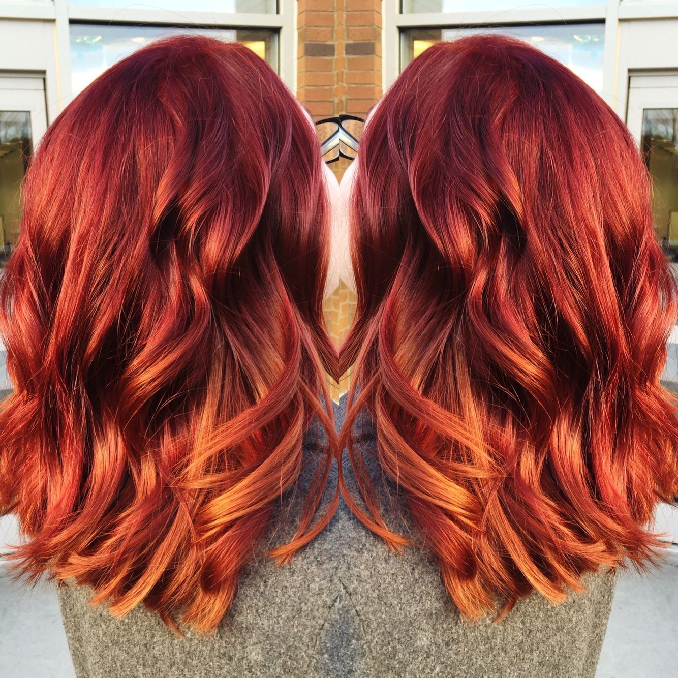 Red to copper color melt More  Hair Envy.  Hair, Hair inspo, Copper hair