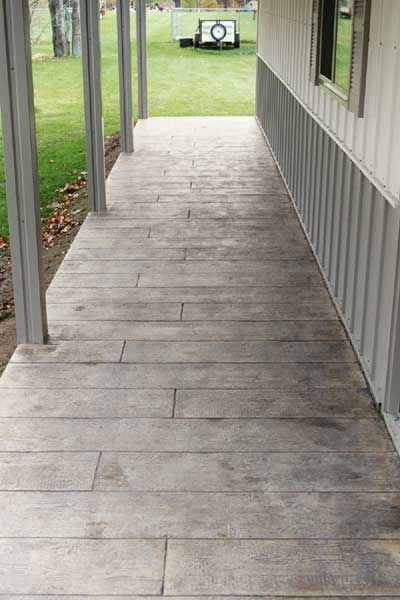 Stained Concrete Porch With Images Patio Flooring Concrete