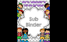 Just A Primary Girl: Monday Made It - Sub Binder