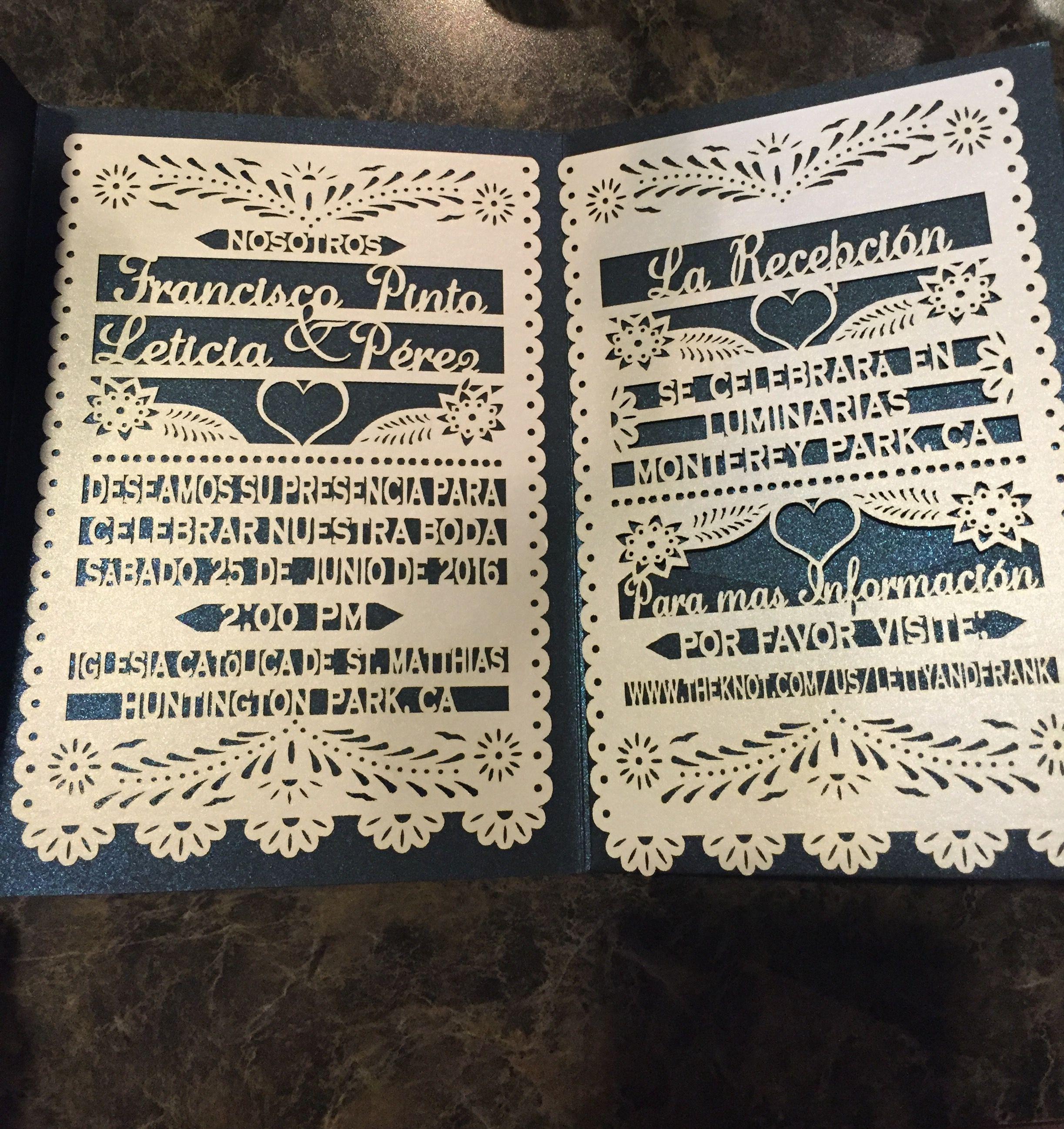 our papel picado wedding invites finally arrived - Papel Picado Wedding Invitations