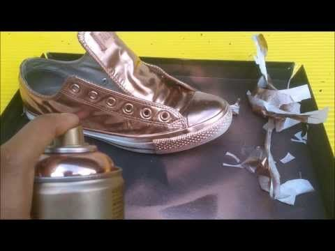 804da9712969 How To  DIY Swarovski Crystal Covered Converse - YouTube