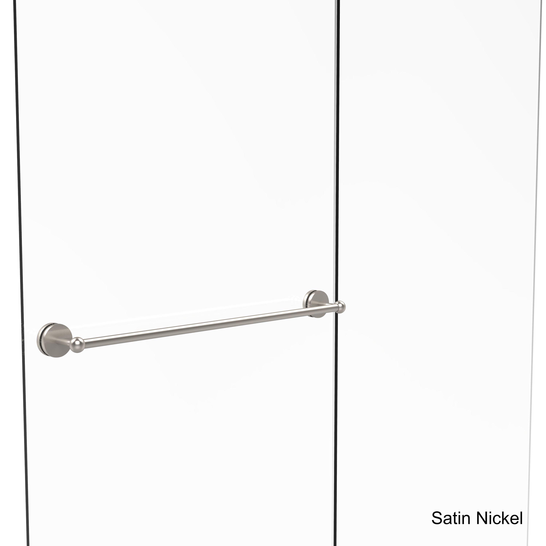 Elegant Allied Brass Prestige Skyline Collection 30 Inch Shower Door Towel Bar  (Satin Nickel)