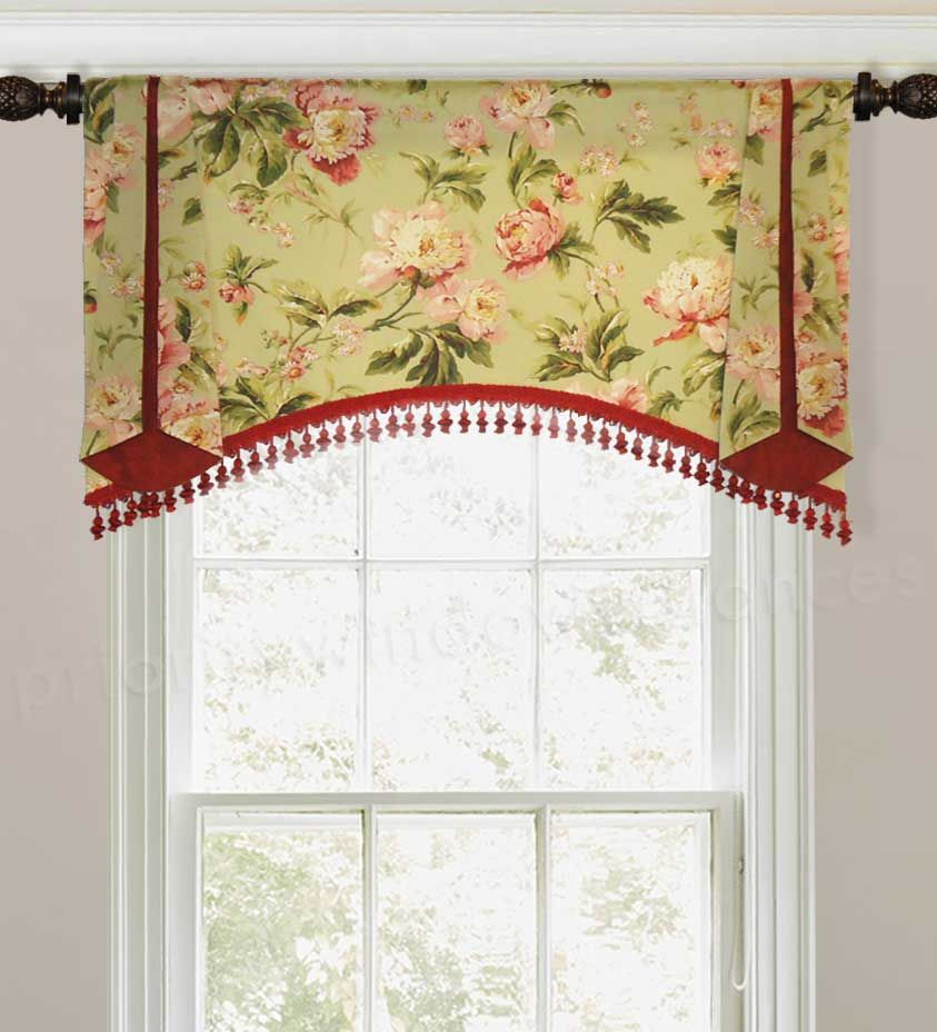 Arched Trumpet Rod Pocket Valance Arched Window Treatments