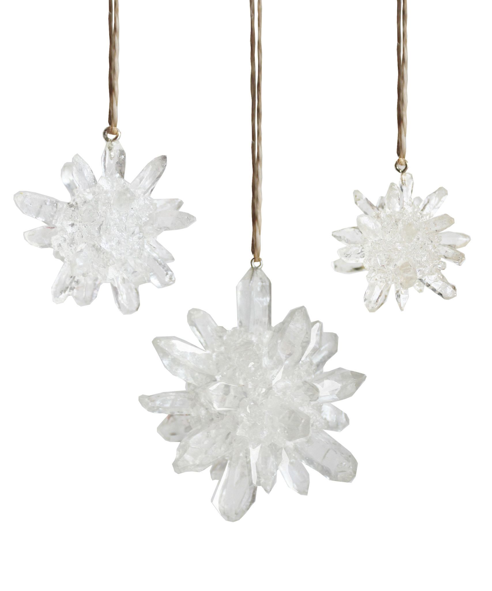 Faux Quartz Starburst Ornament