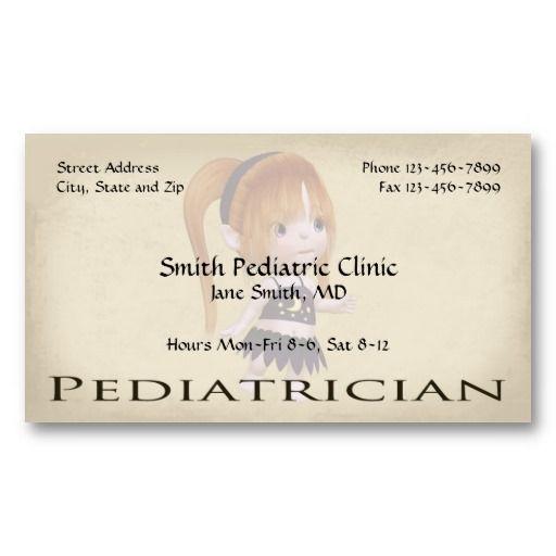 Pediatrician Pediatric Business Cards Physiciansurgeon Medical
