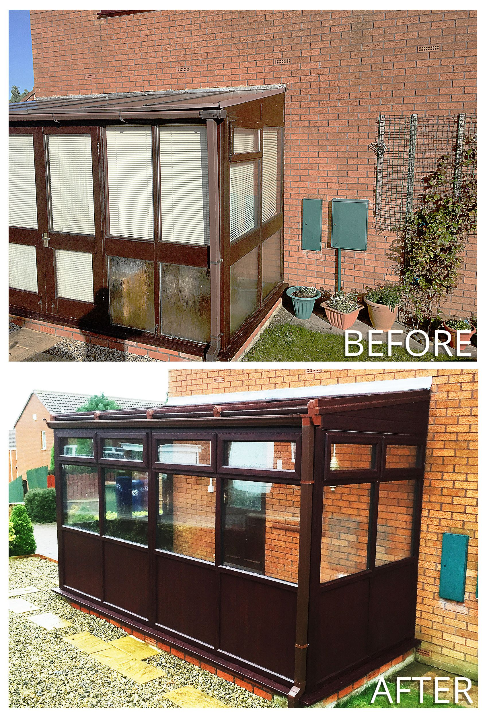 Beautiful Before And After Rosewood Upvc Conservatory Renovation Transforming A Traditional Timber Conservatory Wit Rehau Conservatory Outdoor Furniture Sets