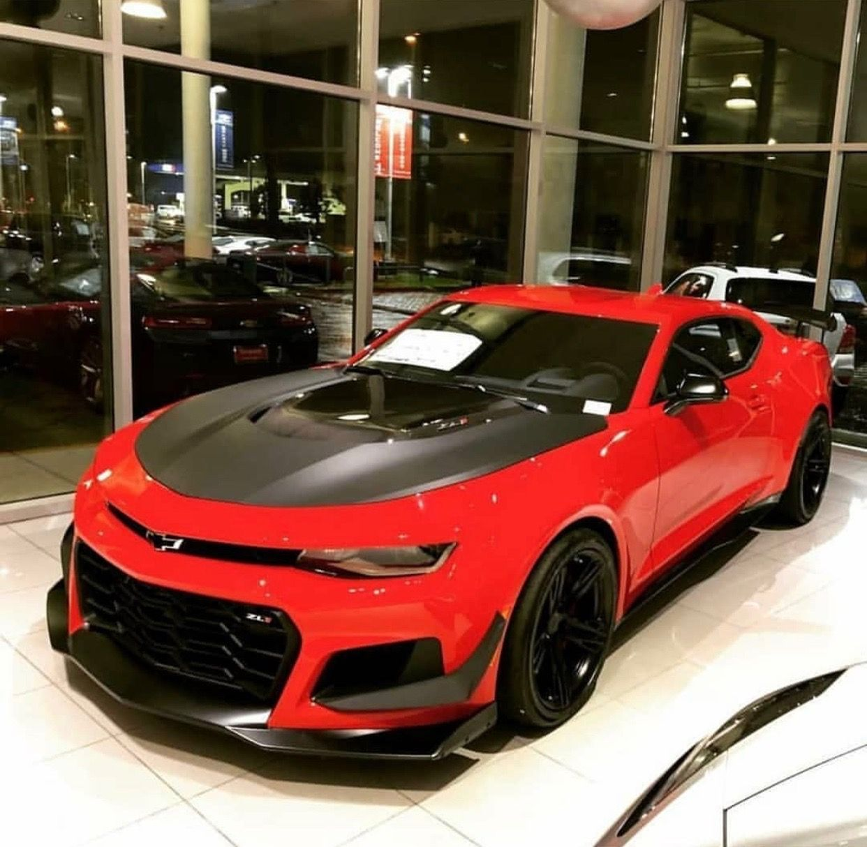 Chevrolet Camaro ZL1 1LE painted in Red Hot Photo taken by ...