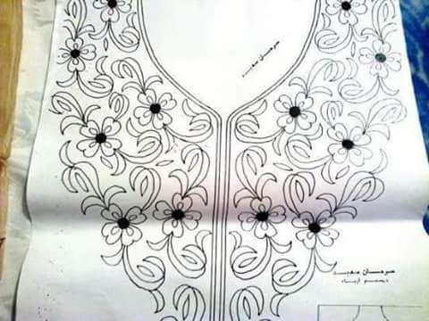 جديد رشمات الطرز الرباطي Embroidery Neck Designs Beaded Embroidery Embroidery Designs