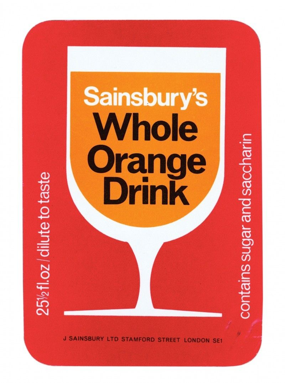 Pin By Chris G On Graphic Design Orange Drinks Sainsburys Labels