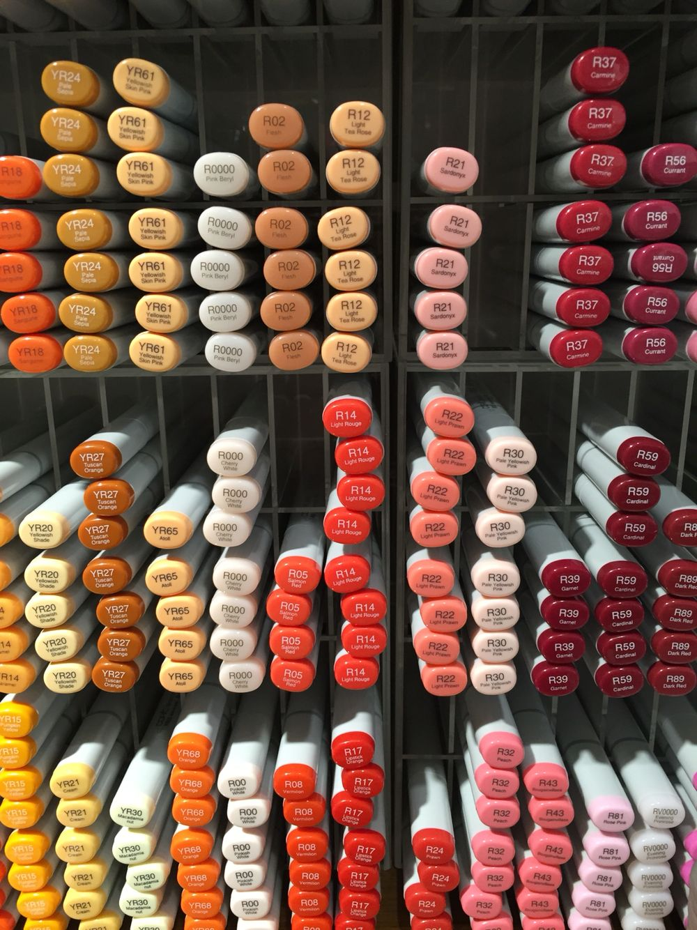 Beautiful selection of Copic markers in Itoya, Ginza, Tokyo!