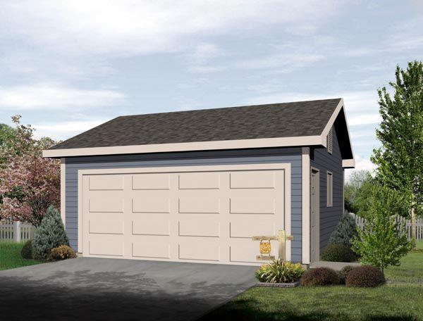 Garage Plan 49047 Traditional Style 2 Car Garage Plan Garage Plan 2 Car Garage Plans Garage Door Types