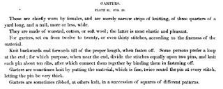 Dressing the 1840s: 1838 Knitted Garters