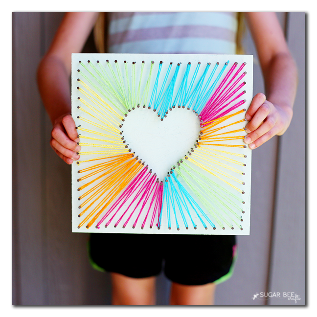 50 Mother 39 S Day Crafts You Can Make Yourself String Art