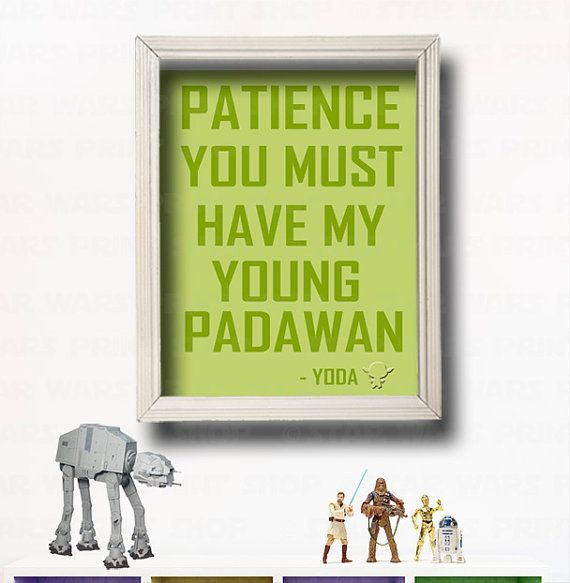 YODA QUOTE - Star Wars Wall Art -Star Wars Nursery- Star ...
