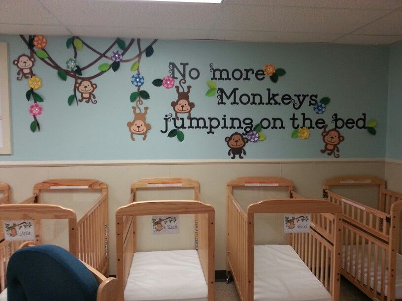 More Monkeys Nursery Room Ideas Infant Activities Childcare Foyer Display