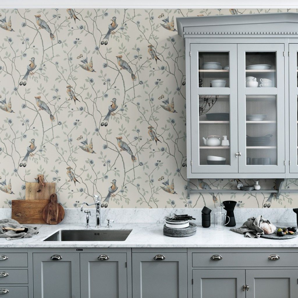 Sandberg Wallpaper Kitchen Wallpaper Design Glass Kitchen Cabinet Doors Cottage Kitchen Design