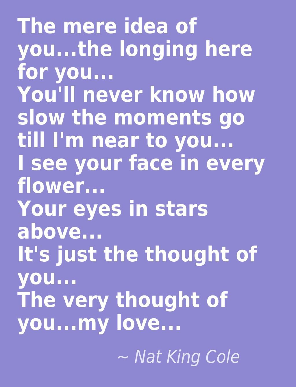 The Very Thought Of You Nat King Coleim Thinking Of You