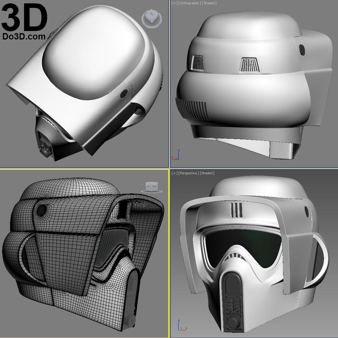 Biker Scout Trooper Helmet  CUSTOM SIZE  Mandalorian Helmet  Star Wars Gift  Star Wars Cosplay