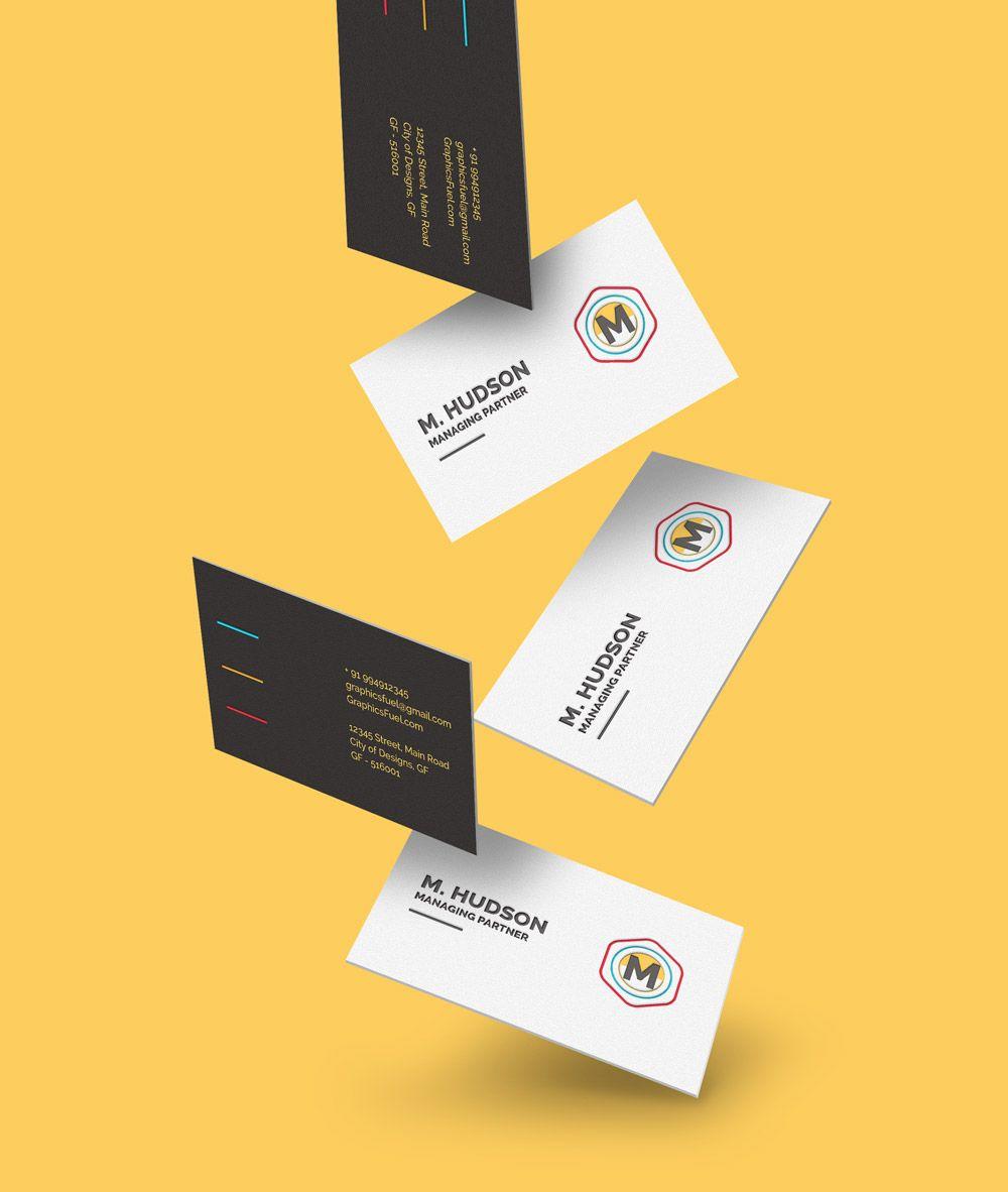 Free Falling Business Cards Mockup Visitenkarten Kostenlos