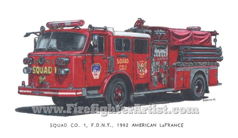 1982 American Lafrance Fdny Squad Co 1 Fdny Fire Trucks Firefighter