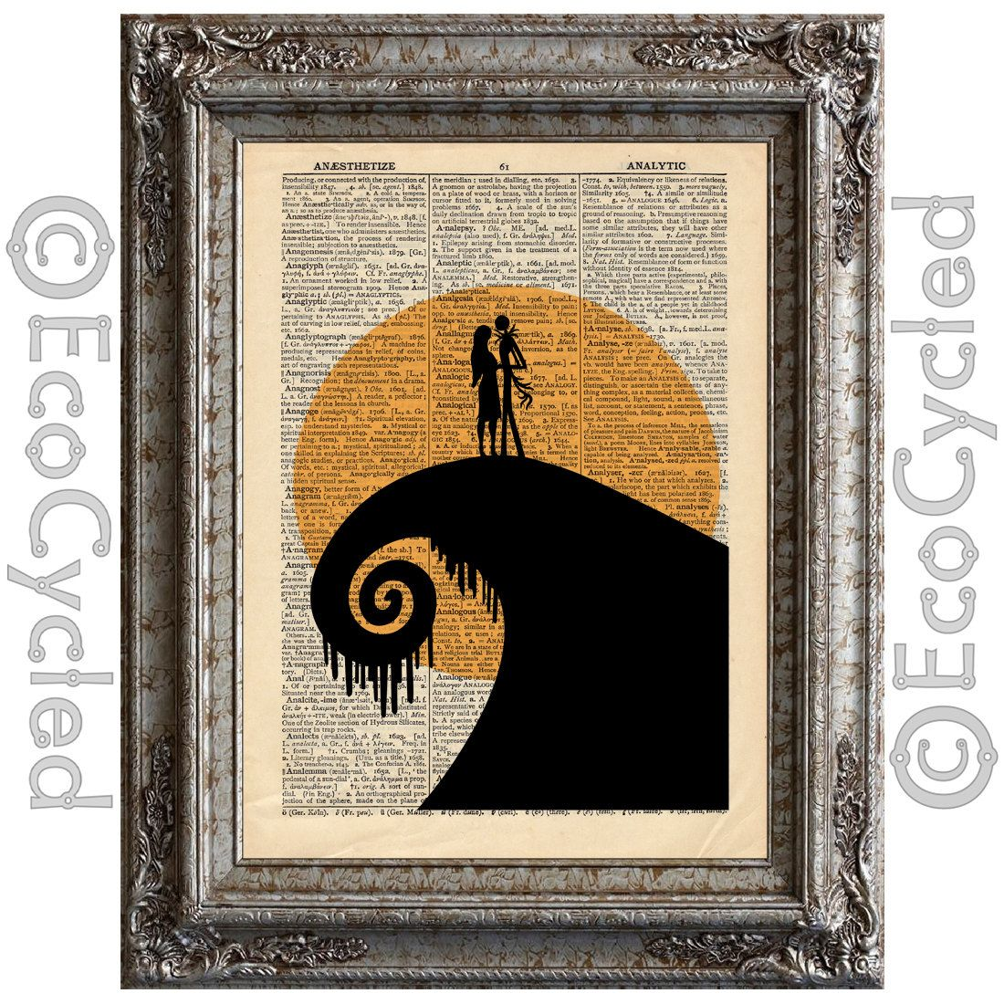 Nightmare Before Christmas on Vintage Upcycled by EcoCycled, $10.00 ...