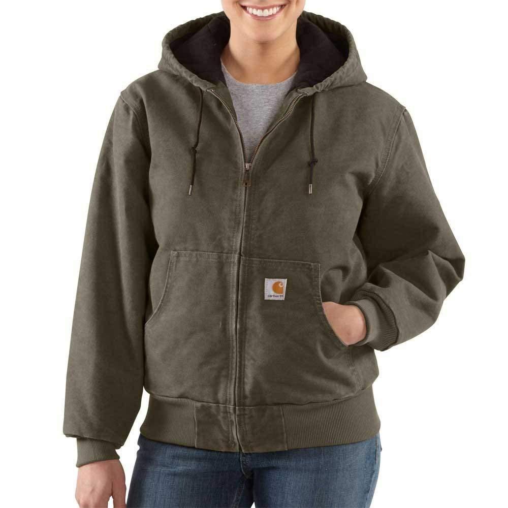Carhartt Women's Lined Sandstone Active Jacket WJ130 #carharttwomen