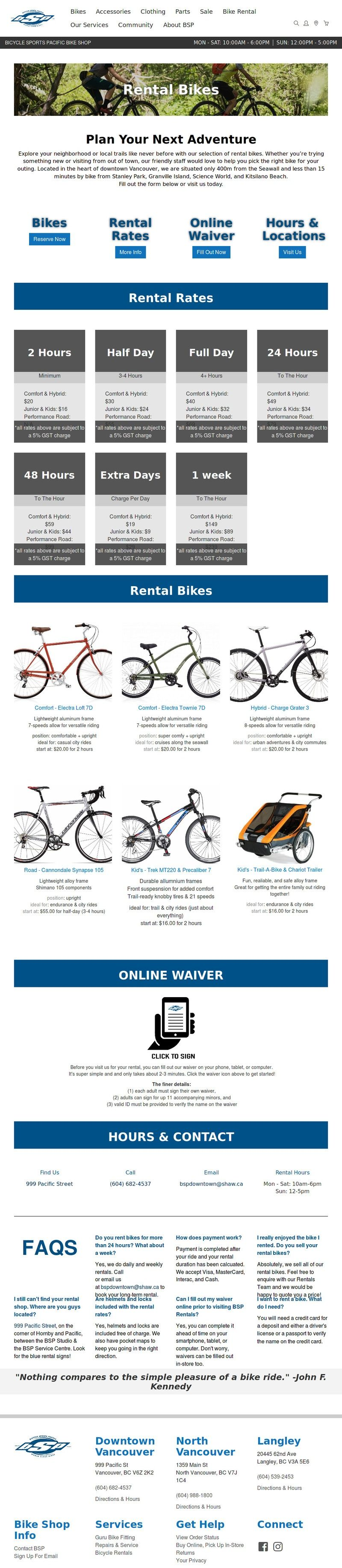 Bsp In Vancouver Has Your Area S Best Selection Of Electric Bikes