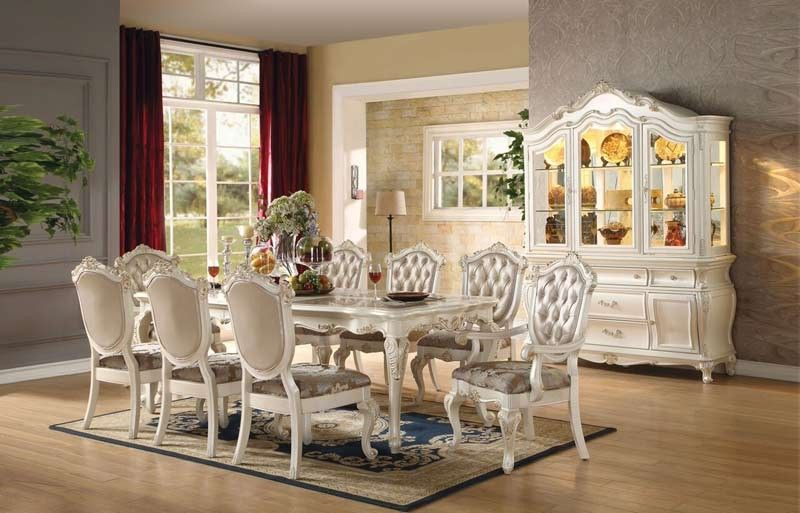 Acme Furniture  Chantelle 10 Piece Dining Room Set  6354010Set Entrancing Dining Room Set For 10 Review