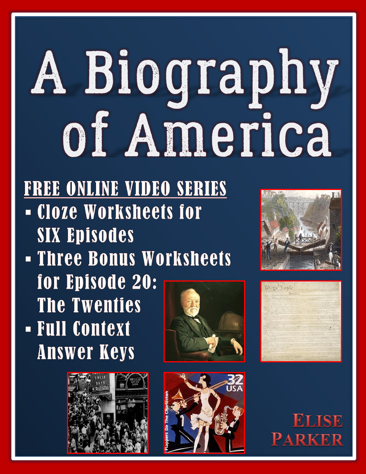 A Biography Of America Worksheet Set For Free Online Video