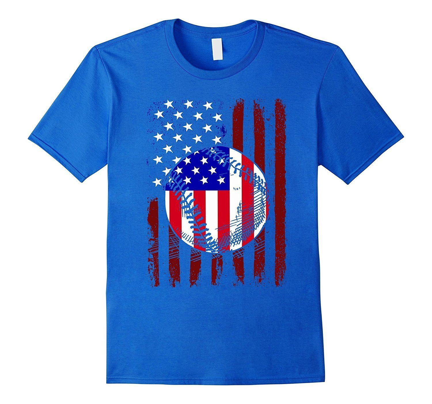 American Flag Baseball Shirt Vintage Distressed Design