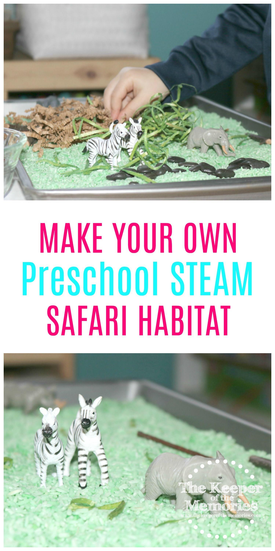 Preschool Safari Theme Activities Sensory Habitat With