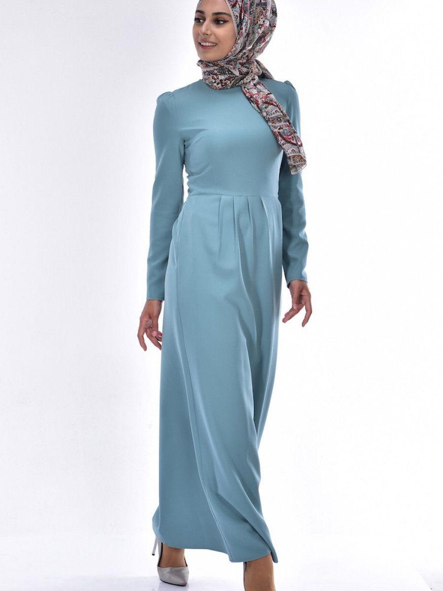 5815d31b11bd2 Sefamerve Tesettür Şık Kalem Elbise Modelleri - Moda Tesettür Giyim ...