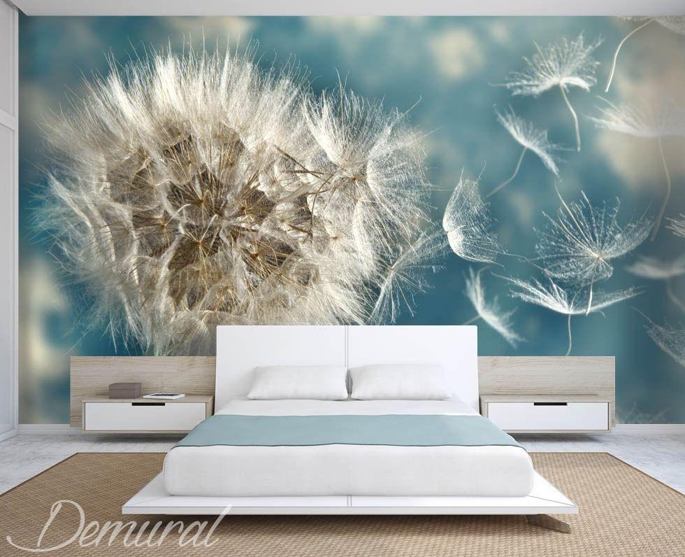 Ideal pusteblumen die in windrichtung geworfen werden fototapete mit pusteblume fototapeten demural