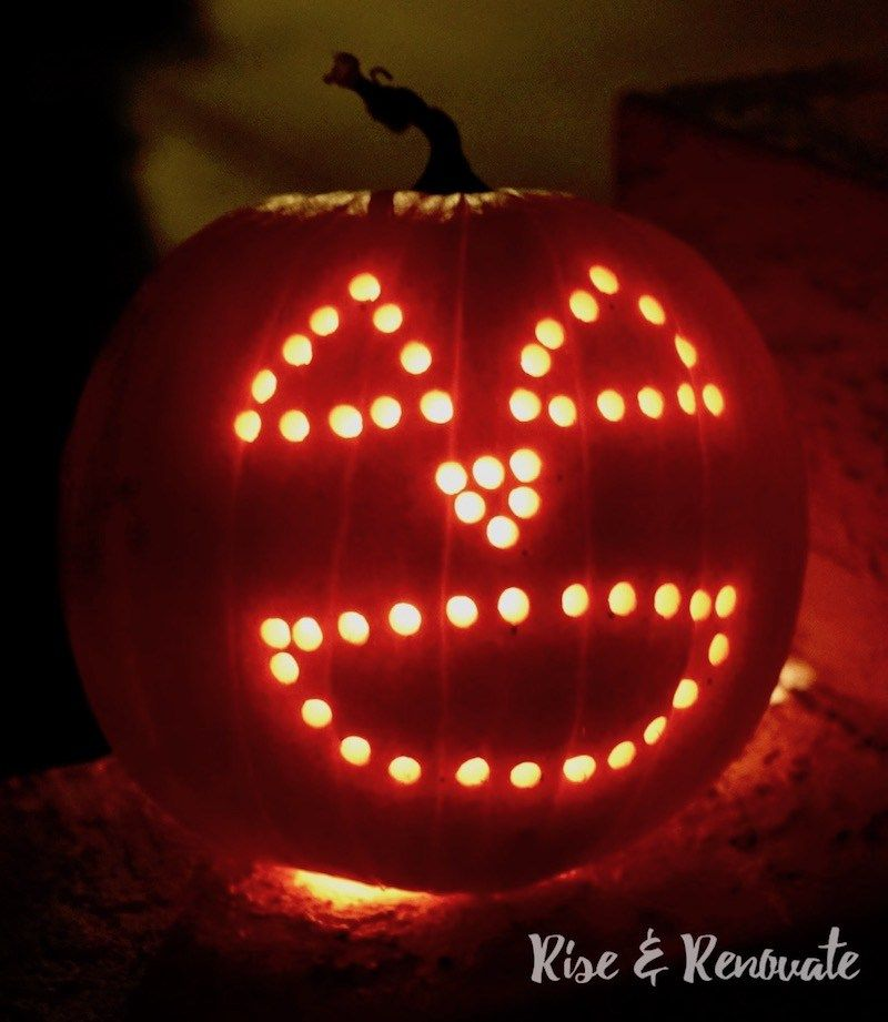 Quick And Easy Pumpkin Carving Using A Power Drill Easy Pumpkin Carving Pumpkin Carving Pumpkin Uses