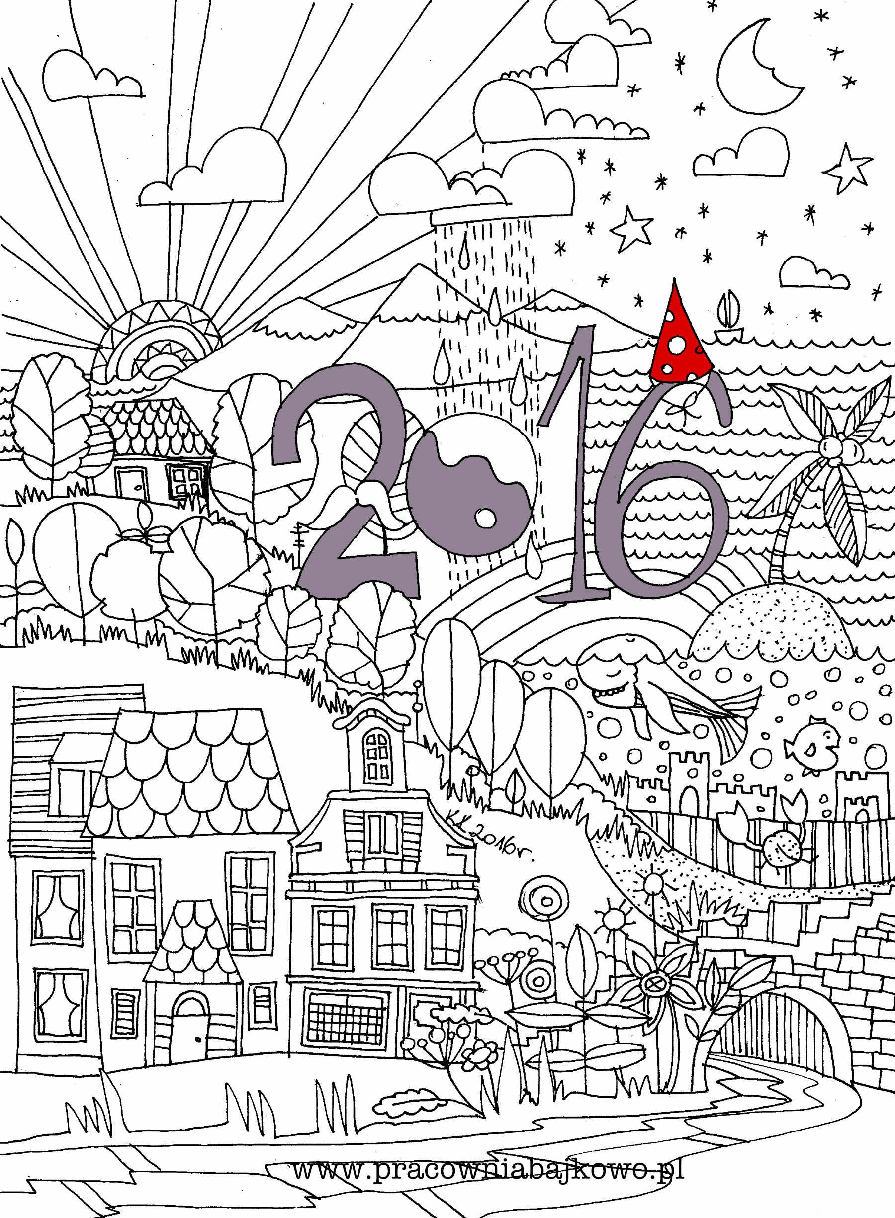 Happy New Year 2016 Coloring Books Coloring Pages Coloring Pages To Print