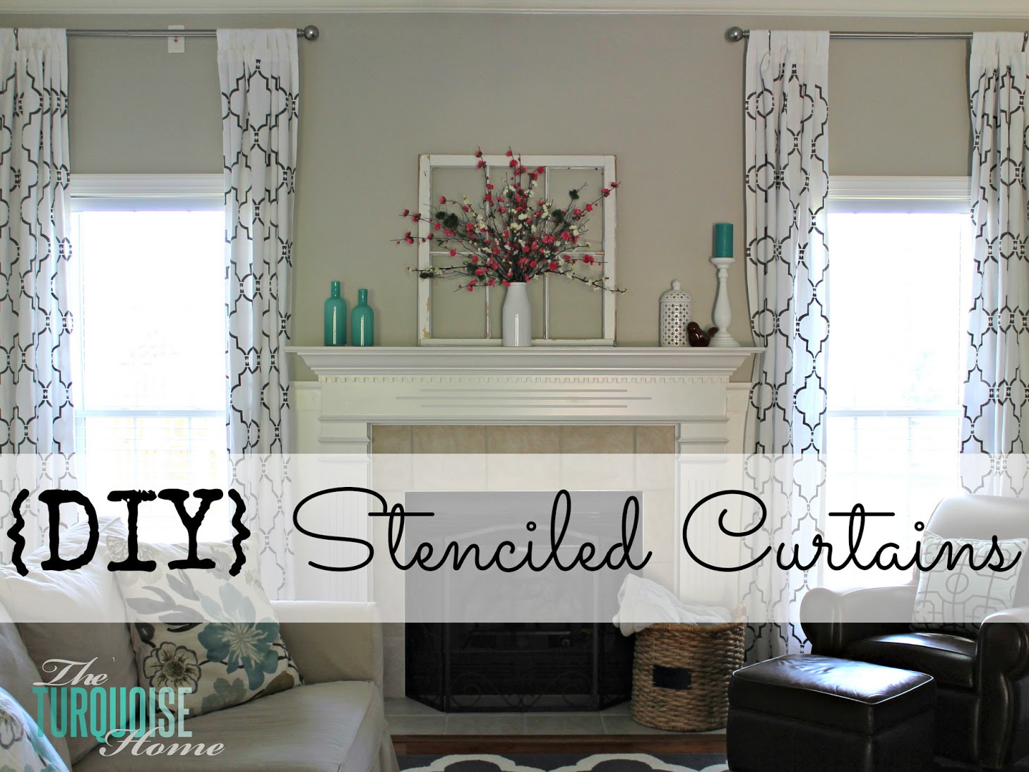 How To Stencil Curtains Tall Curtains Ikea Curtains And Stenciling
