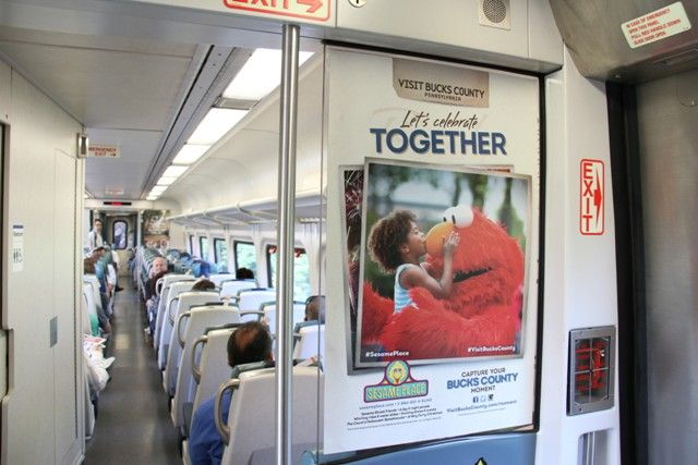 If you're riding the Long Island Railroad this summer, you may see our ad for @Sesame Place, the only theme park in the nation dedicated to the show Sesame Street.