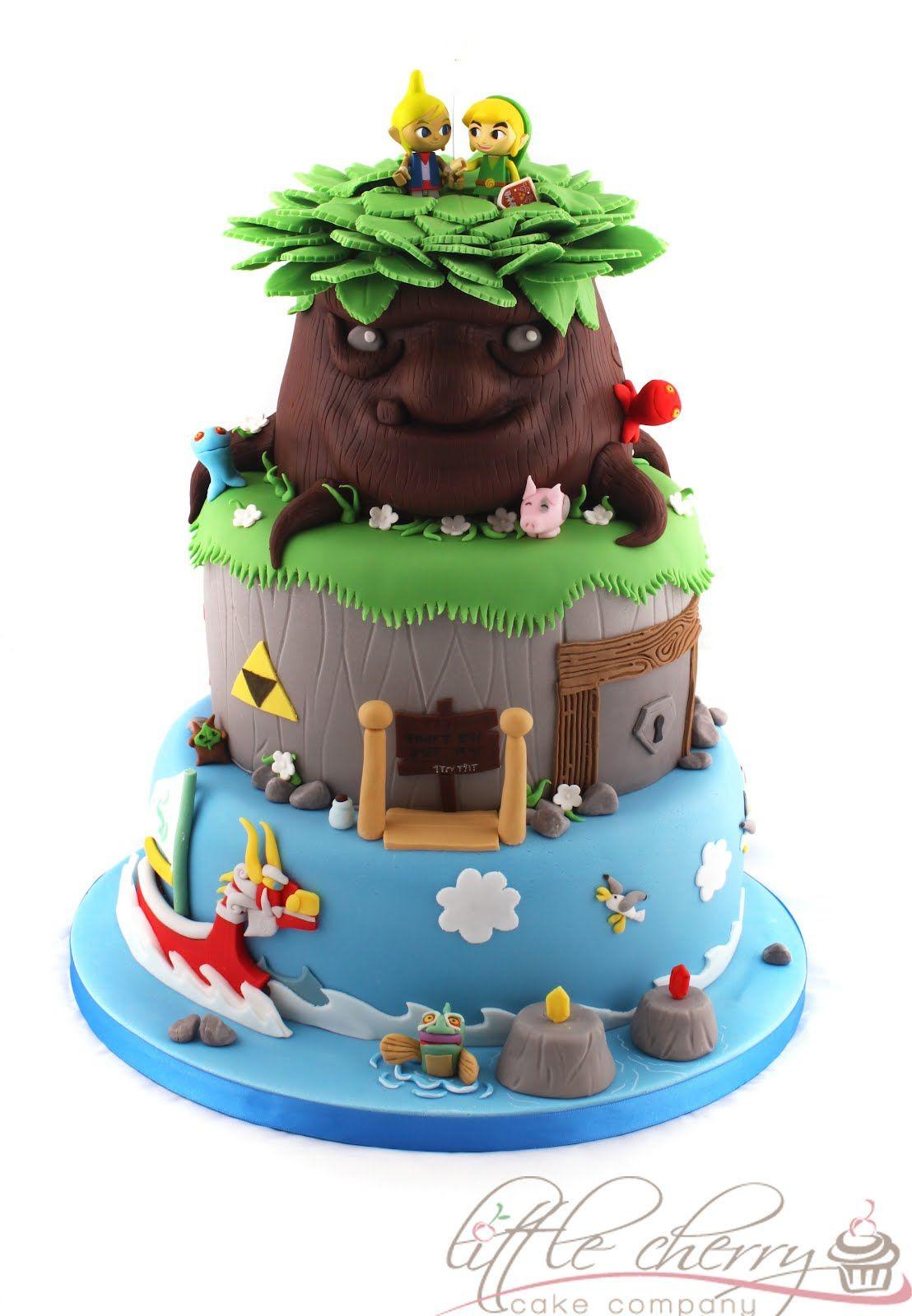 Legend of Zelda The Wind Walker cake Cake Wind waker and Cherries