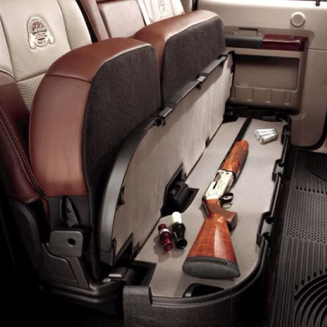 Gun Compartment Under A Bench Seat Ridin Dirty Cajas