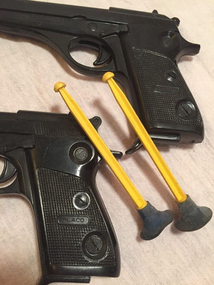 Greatest Pair Vintage 1960's Placo Toys Plastic Dart Guns 4 Darts | eBay  OG19