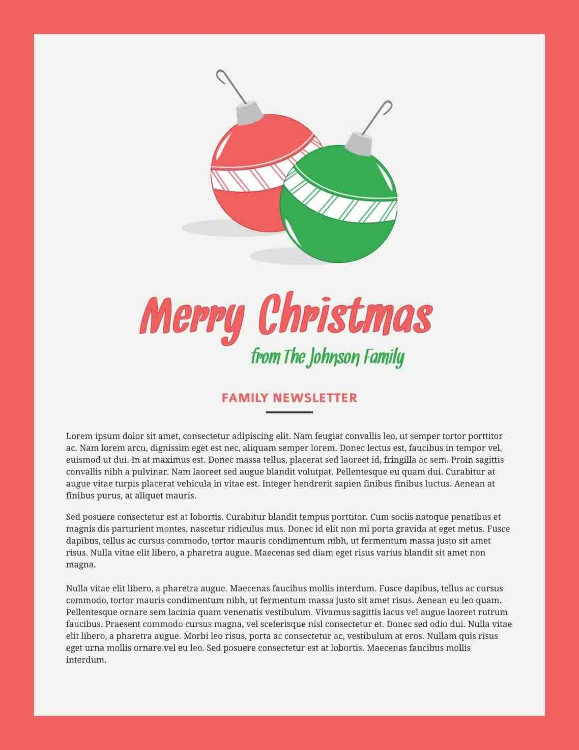 new post free christmas newsletter templates download decors ideas
