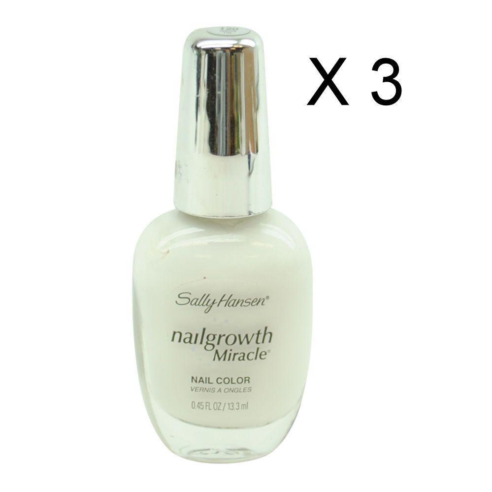 Lot of 3 Sally Hansen Nail Growth Miracle Nail Color #120 \