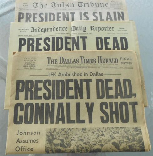 The news of November 22, 1963 brought the country to a standstill!