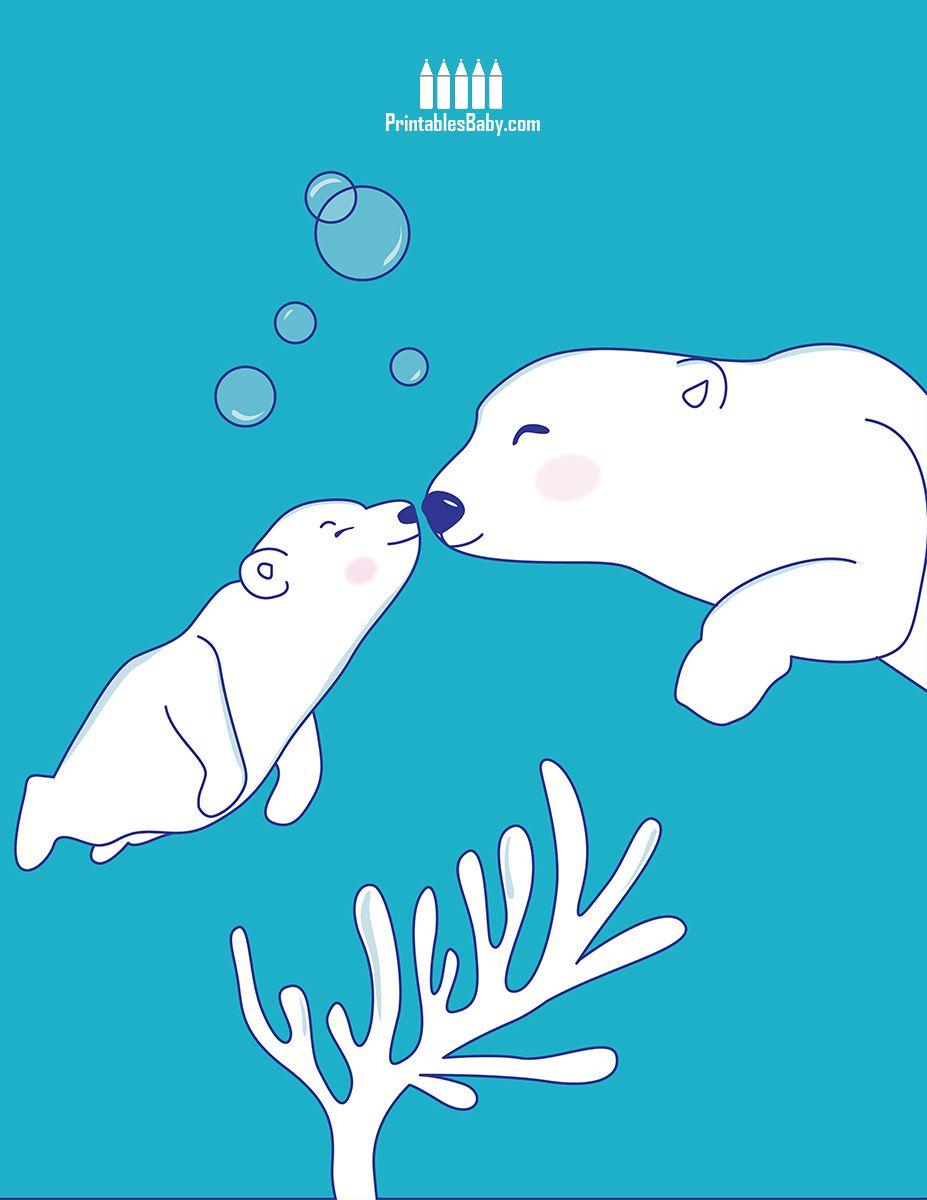 Bears Mom Son   Free Printable Holiday Posters   Pinterest   Polar ...