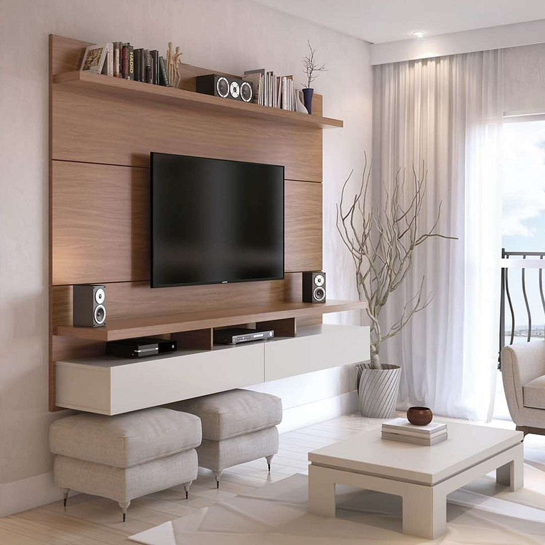 Manhattan Comfort Cabrini Tv Stand Floating Wall Tv Panel With Led Modish Store Tv Wall Cabinets Wall Tv Stand Tv Wall Design