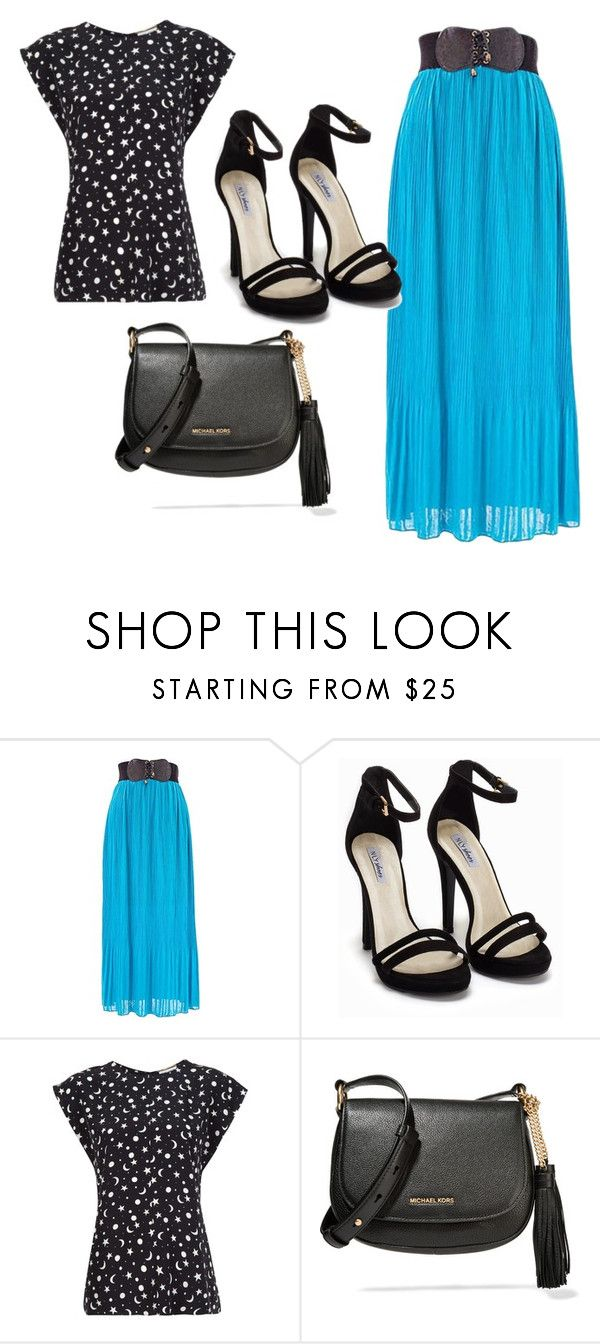 """Chiffon Maxi"" by sillycatgrl ❤ liked on Polyvore featuring Nly Shoes, Yves Saint Laurent and MICHAEL Michael Kors"