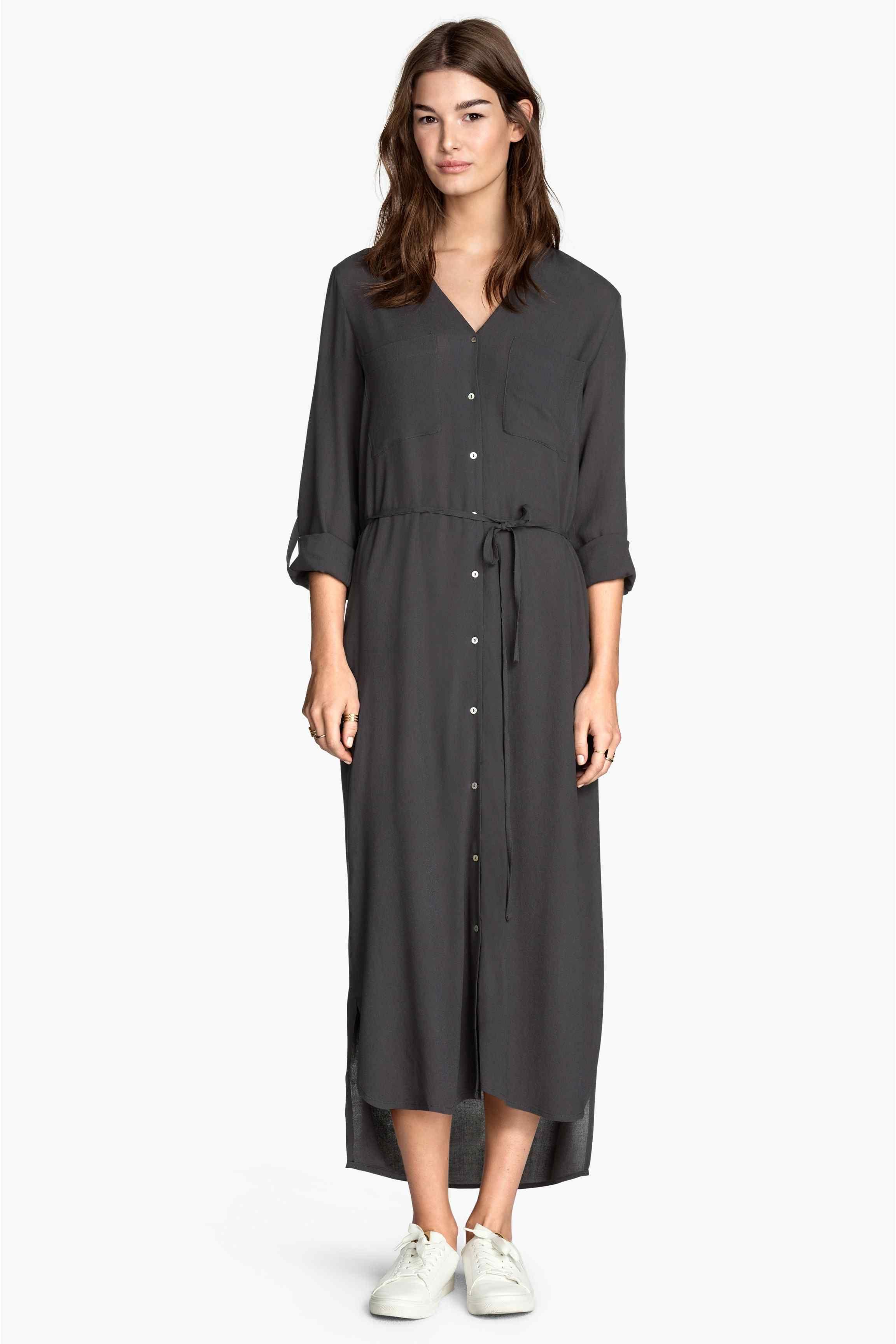 Dlhé košeľové šaty  d684183d944