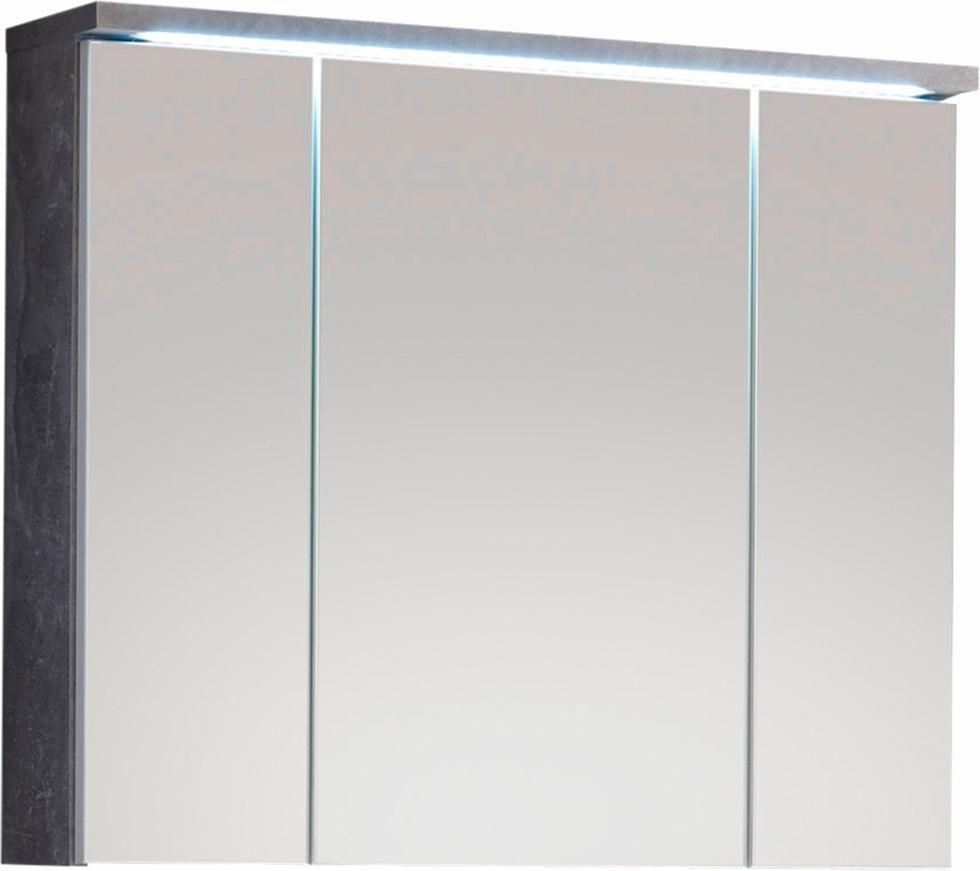 Spiegelschrank 3 Spiegelturen Dahinter Je 1 Einlegeboden Inkl Integrierter Led Beleuchtung Kalt Weiss Und Stecker I Spiegelschrank Led Beleuchtung Welltime