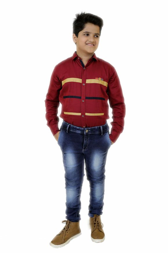446efc921b9 Shop online Kids plus size clothing for boys at abductindia. Get the  fashionable plus size denim blue elegant wash kids jeans for your over  healthy kids.
