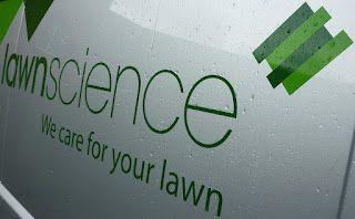 The Lawnscience van in the rain